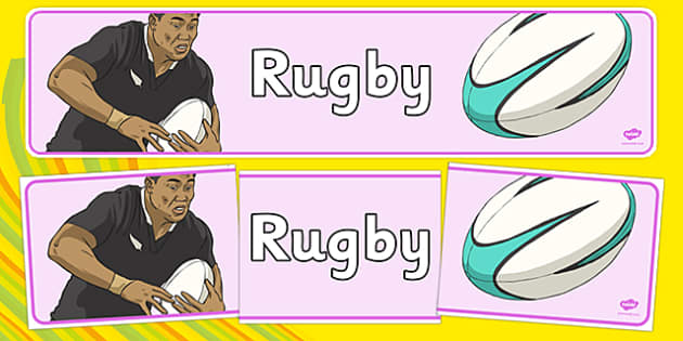 Rio 2016 Olympics Rugby Display Banner - the olympics, rio olympics, rio 2016, 2016 olympics,