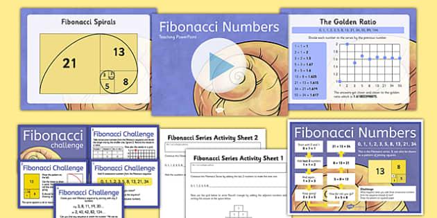Fibonacci Numbers Resource Pack - Maths, Fibonacci, Patterns, Spiral, Pascal's Triangle