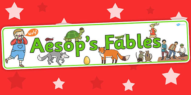 Aesop's Fables Display Banner - Aesop's fables, header, stories