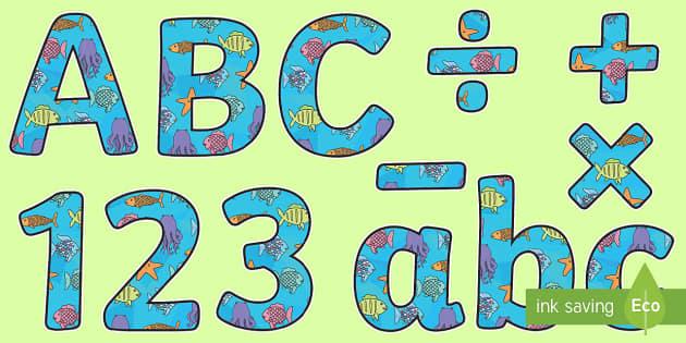El pez arcoiris Letras de mural