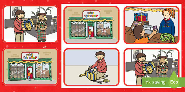 Gift Giving Story Sequencing Cards