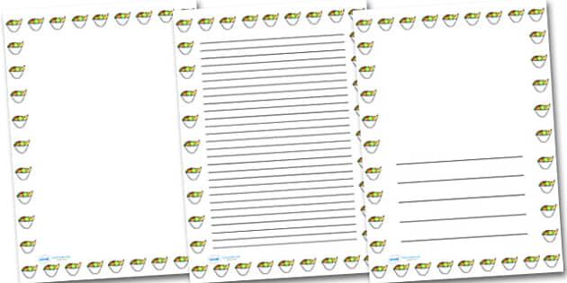Bowl of Fruit Portrait Page Borders- Portrait Page Borders - Page border, border, writing template, writing aid, writing frame, a4 border, template, templates, landscape