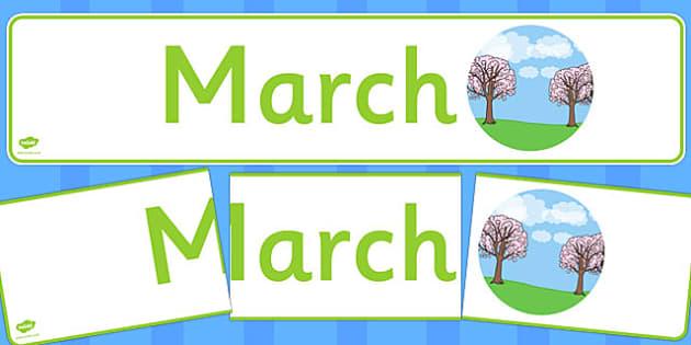 March Display Banner - march, display banner, display, banner, months, year