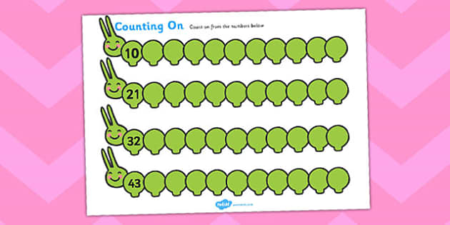 Counting On Worksheets Caterpillar - Counting worksheet, Counting, activity, how many, foundation numeracy, Counting on, Counting back, caterpillar