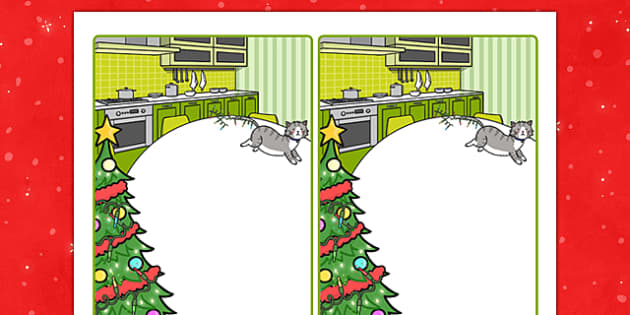 Christmas Cat Themed Editable Note - christmas cat, mog, editable, note