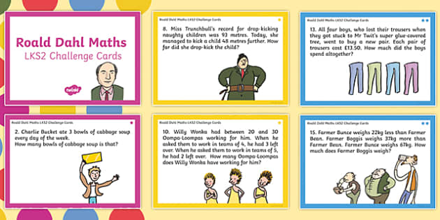 Roald Dahl KS2 Differentiated Maths Challenge Cards