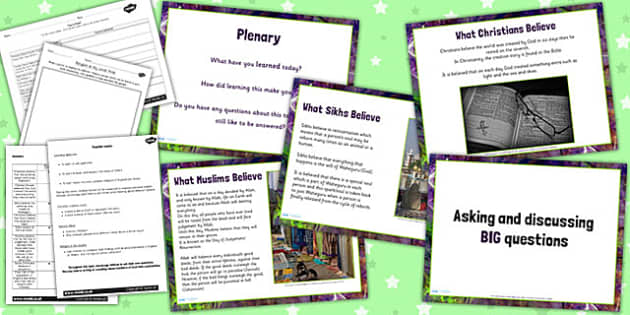 Religious Education Asking Discussing BIG Questions Lesson Pack