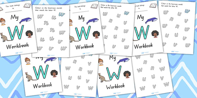 My Workbook W Uppercase - letter formation, fine motor skills