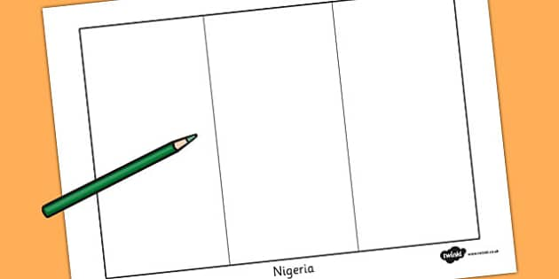 Nigeria Flag Colouring Sheet - countries, country, geography