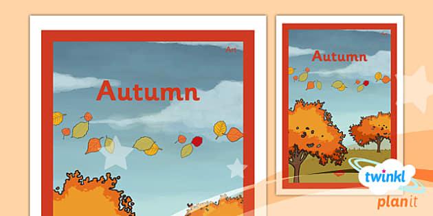 PlanIt - Art LKS2 - Autumn Unit Book Cover - planit, book cover, lks2, art, autumn