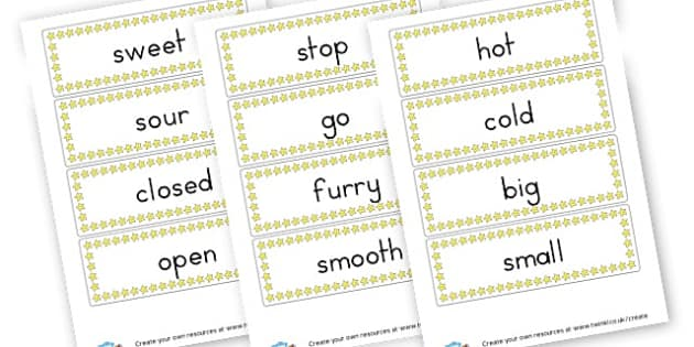 Opposite Game Cards - Words & Vocab Primary Resources, literacy, keywords, cvc, phonemes