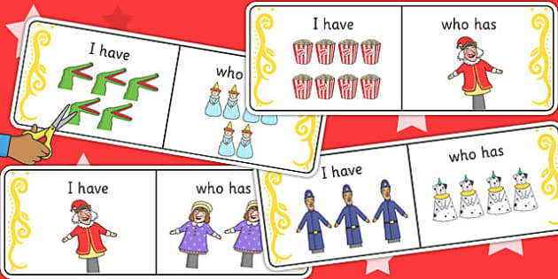 Punch and Judy I Have Who Has Counting Activity - counting, maths