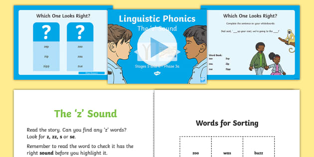 Northern Ireland Linguistic Phonics Stage 5 and 6 Phase 3a, 'z' Sound PowerPoint - Linguistic Phonics, Stage 5, Stage 6, Phase 3a, Northern Ireland, 'z' sound, sound search, word