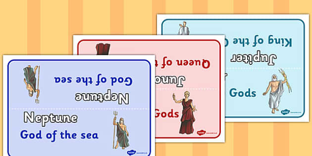 Roman Gods Table Group Signs - roman gods, table, group, signs