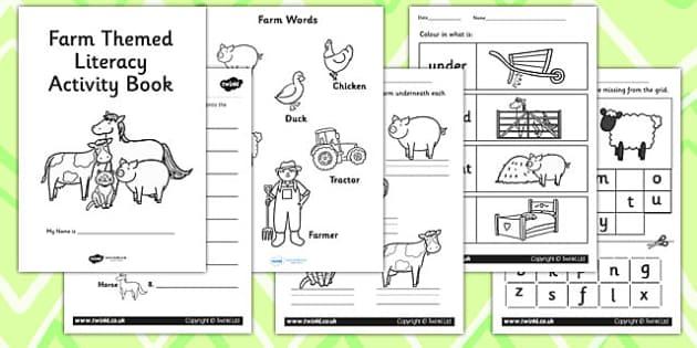 Farm Themed KS1 Literacy Activity Book - english activity book