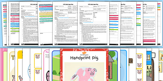 EYFS The Three Little Pigs Adult Input Planning and Resource Pack - EYFS, early years planning, adult led, traditional tales
