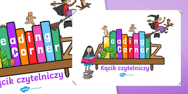 Reading Corner Display Poster Polish Translation - reading corner, reading corner poster, reading area display, reading display poster, display posters, reading, area, readingdisplay, reding, readingcorner