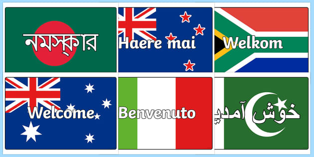 Welcome Flags With Country Display Posters - flags, countries