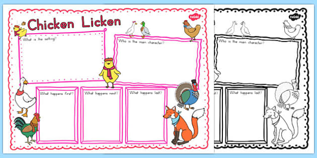 Chicken Licken Book Review Writing Frame - australia, chicken licken