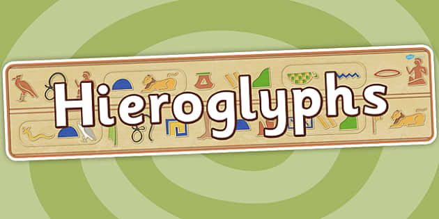 Hieroglyphs Display Banner - ancient egypt, egyptians, header