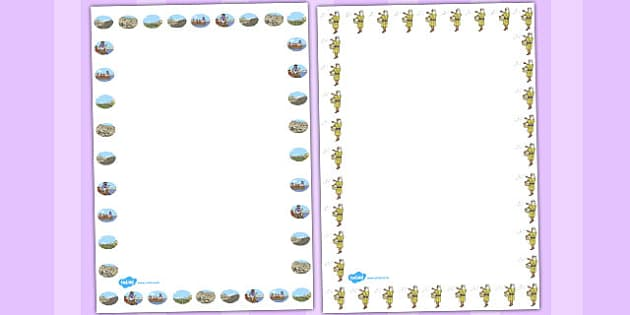 The Sower and the Seeds Page Borders - sower, seeds, borders