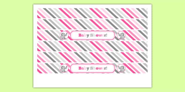 Baby Shower Cake Ribbon Pink Themed - baby shower, baby, shower, newborn, pregnancy, new parents, cake ribbon