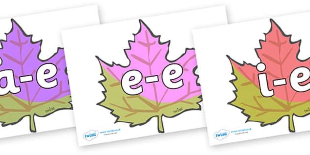 Modifying E Letters on Autumn Leaves - Modifying E, letters, modify, Phase 5, Phase five, alternative spellings for phonemes, DfES letters and Sounds