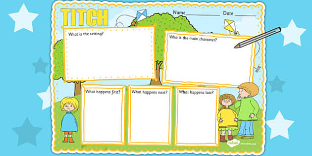 Story Review Writing Frame to Support Teaching on Titch - book review, writing aid