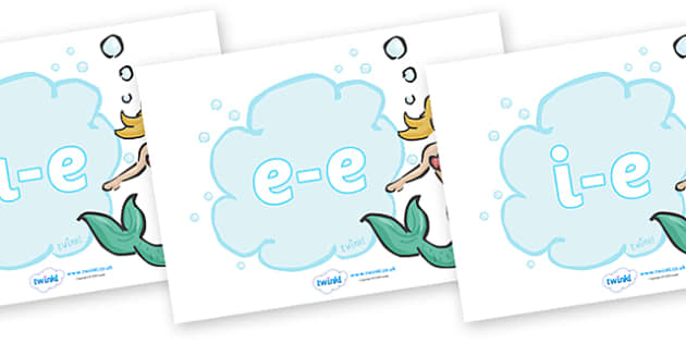 Modifying E Letters on Mermaids - Modifying E, letters, modify, Phase 5, Phase five, alternative spellings for phonemes, DfES letters and Sounds