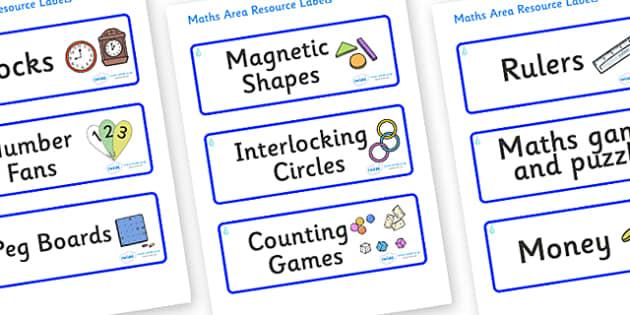 Raindrop Themed Editable Maths Area Resource Labels - Themed maths resource labels, maths area resources, Label template, Resource Label, Name Labels, Editable Labels, Drawer Labels, KS1 Labels, Foundation Labels, Foundation Stage Labels, Teaching La