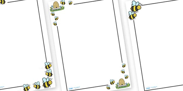 Here is the Beehive Page Borders - Here is the Beehive, nursery rhyme, Literacy, writing, page border, a4 border, template, writing aid, writing border, page template, rhyme, rhyming, nursery rhyme story, nursery rhymes, Here is the Beehive resources