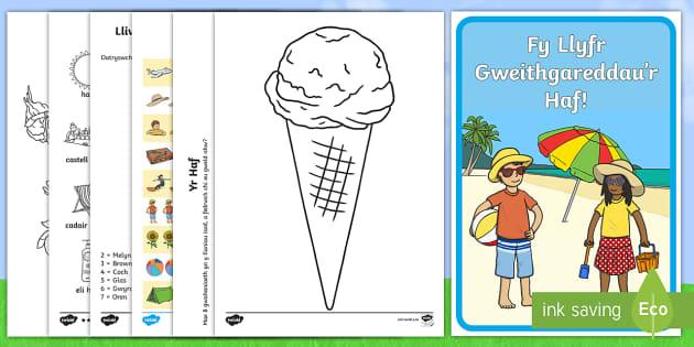 Llyfryn Gweithgareddau yr Haf Activity Booklet - llyfryn, haf, diwedd, tymor, gweithgareddau,
