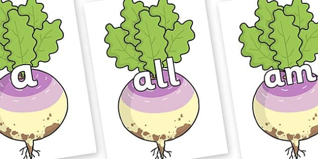 Foundation Stage 2 Keywords on Enormous Turnip - FS2, CLL, keywords, Communication language and literacy,  Display, Key words, high frequency words, foundation stage literacy, DfES Letters and Sounds, Letters and Sounds, spelling
