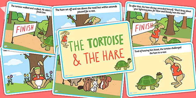 The Tortoise and The Hare Story Cards - story books, visual aid