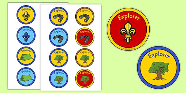Explorers Themed Reward Badges - explorers, themed, reward badges, reward, badges