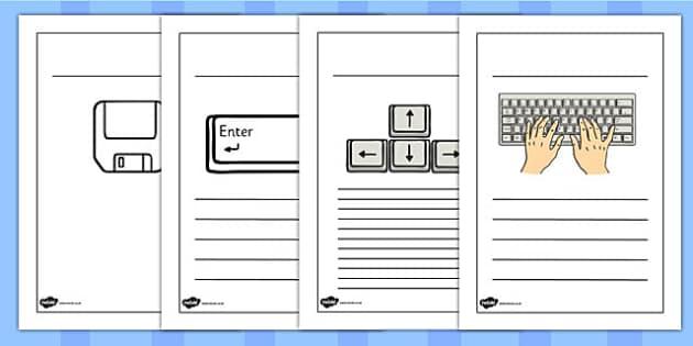 Word Processing Skills Writing Frames - Word, Skills, Writing