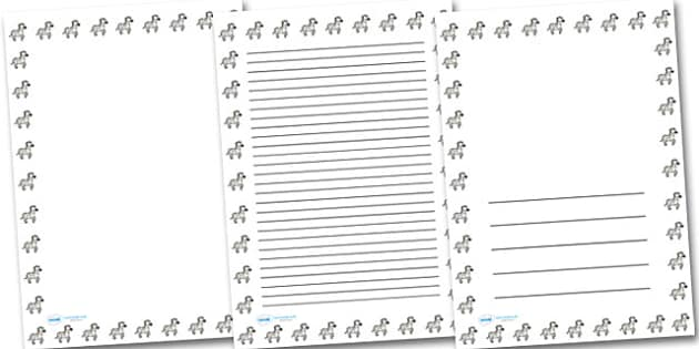 Zebra Landscape Page Borders- Landscape Page Borders - Page border, border, writing template, writing aid, writing frame, a4 border, template, templates, landscape