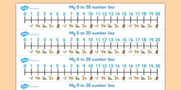 The Gruffalo Number Tracks 0 20 -  the gruffalo, number tracks, numberlines, 0-10, gruffalo themed numbertracks, gruffalo themed numberline