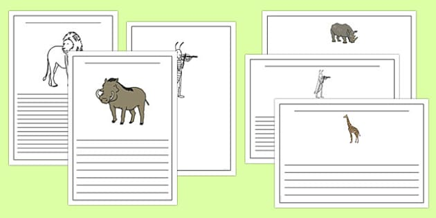 Dancing Giraffe Themed Writing Frames - Giraffes, dance, animals, Africa, safari, writing, literacy, frame, template, story, child-initiated, Giraffes Can
