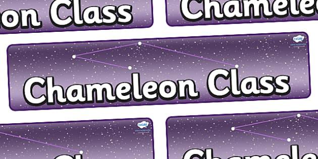 Chameleon Star Constellation Themed Classroom Display Banner - Themed banner, banner, display banner, Classroom labels, Area labels, Poster, Display, Areas