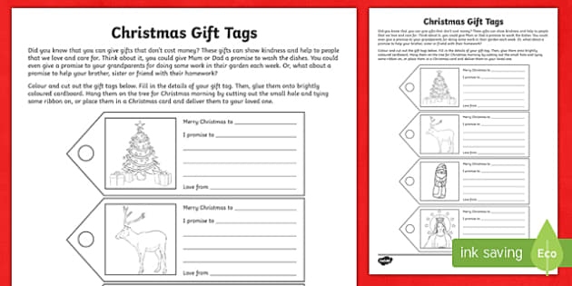 Christmas Gift Tags Craft-Australia