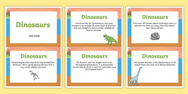 Amazing Dinosaur Display Fact Cards - dinosaur, facts