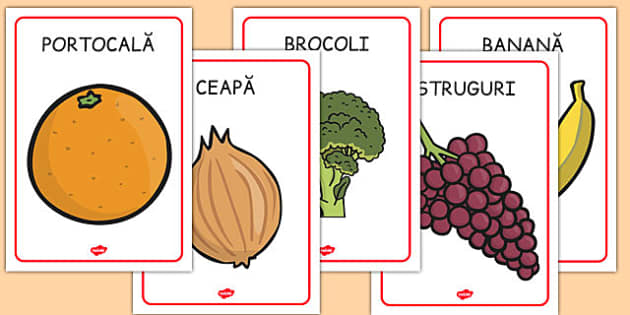 Fructe și legume - Planșe A4 - fructe, legume, planșă, A4, imagini, romanian, materiale, materiale didactice, română, romana, material, material didactic