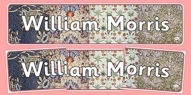 William Morris Display Banner - william morris, display banner, display, banner, artist, famous artist