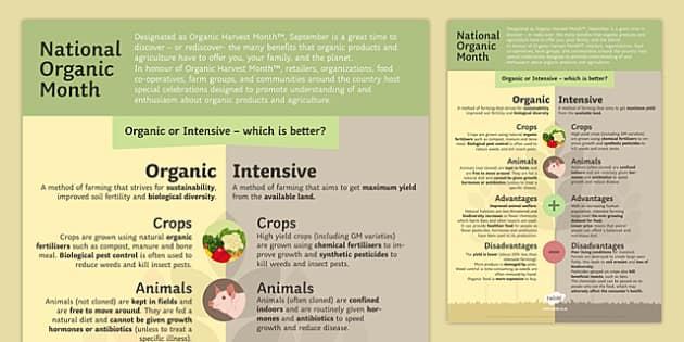 Display National Organic Month