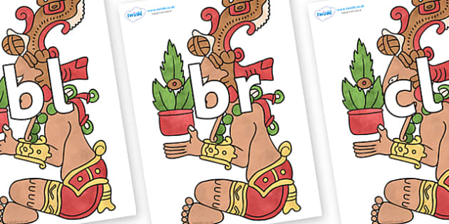 Initial Letter Blends on Huun Ixim - Initial Letters, initial letter, letter blend, letter blends, consonant, consonants, digraph, trigraph, literacy, alphabet, letters, foundation stage literacy