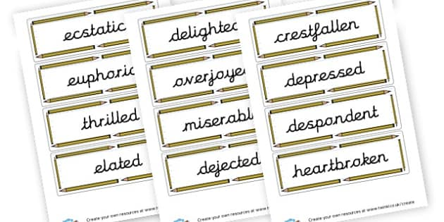 Feelings and Emotions Word Cards - My Emotions Labels Primary Resources, education, home school