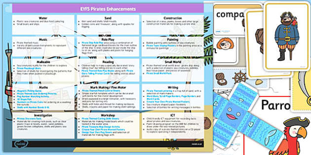 EYFS Pirate Themed Enhancement Ideas and Resources Pack - pack