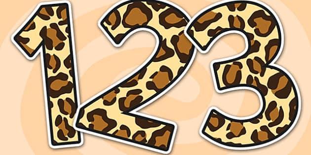 Leopard Pattern Display Numbers - safari, safari numbers, safari display numbers, leopard display numbers, leopard pattern display numbers, leopard pattern