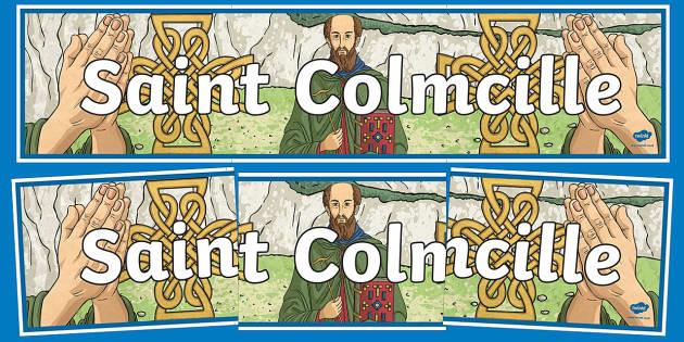 Saint Colmcille Display Banner-Irish